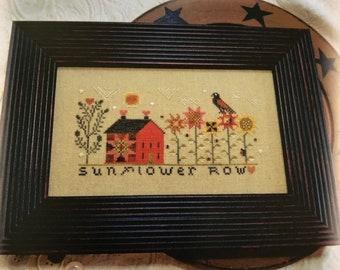 from ANNIE BEEZ Folkart / SUnflower Row / cross stitch chart