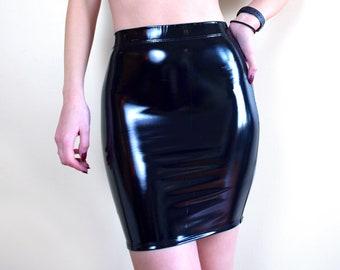 f36e1aee0ce CORONA SKIRT - Black PVC Mini Stretch Vinyl High Waist Clubwear Streetwear  Cyber Futuristic Shiny Wet Look Cyberpunk Fashion Nu Goth Latex