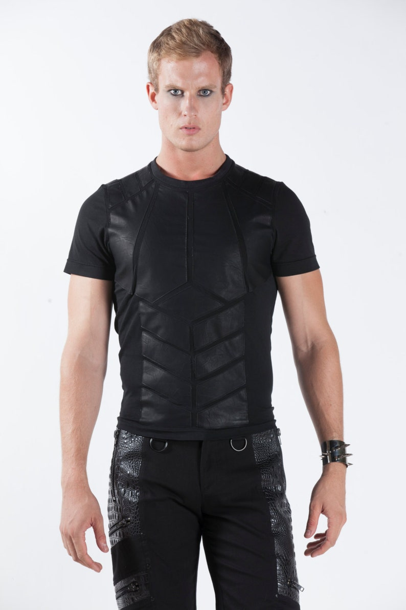 c4cb86f1 AUTOMATON TEE Men's Muscle Shirt Black T-Shirt Leather | Etsy