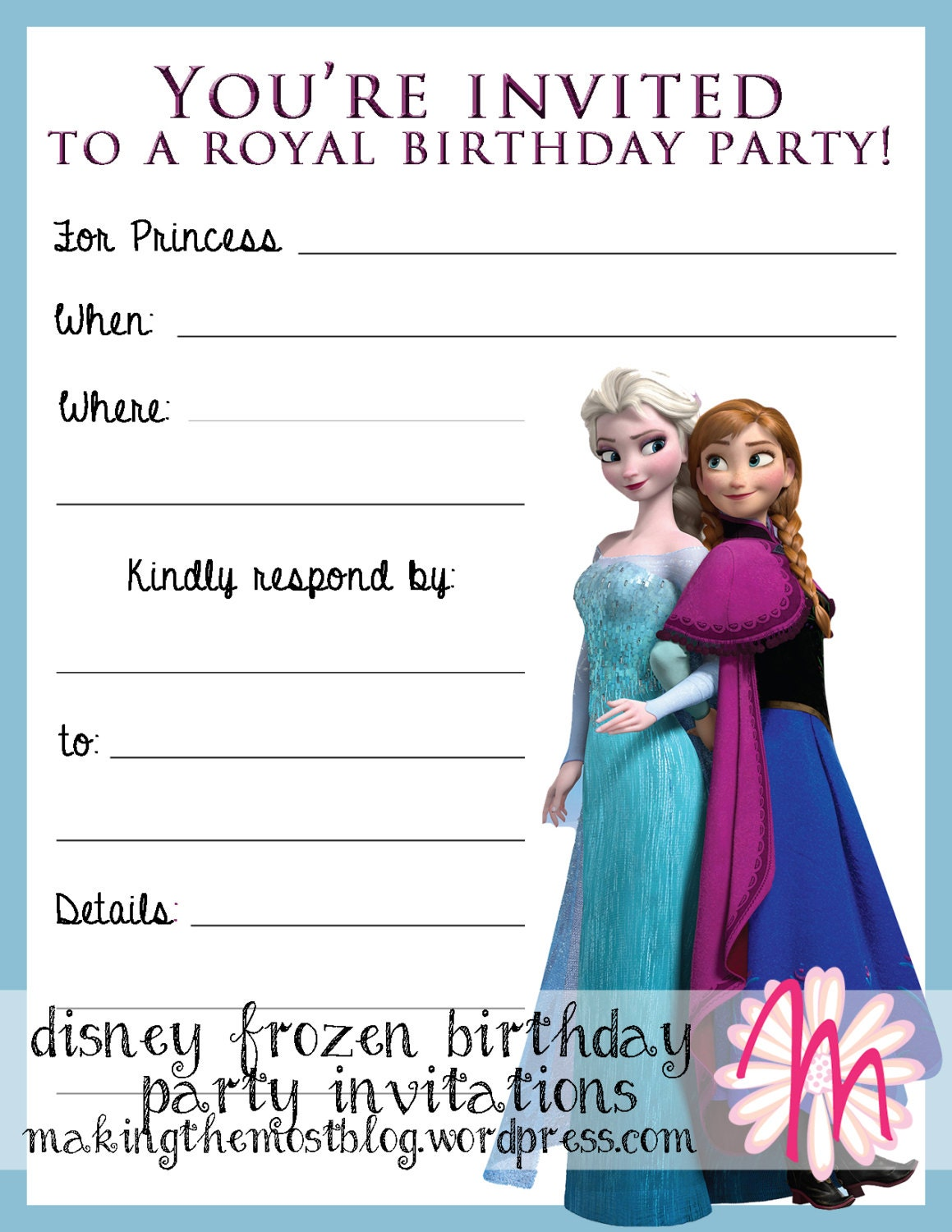 Disney Frozen Birthday Party Invitations and Thank You Notes | Etsy