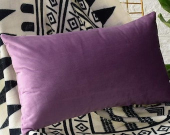 Plum Velvet Bed Pillow