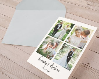 Personalized Folded Note Cards with Envelopes | Blank Note Card Set | Thank You Note Cards | Wedding Thank You Notes | Shower Greeting Cards