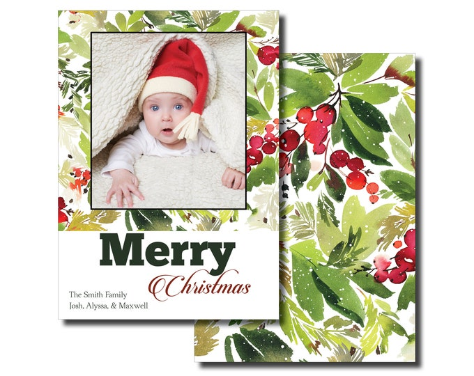 Merry Christmas   Personalized   Holiday Cards   With Photo