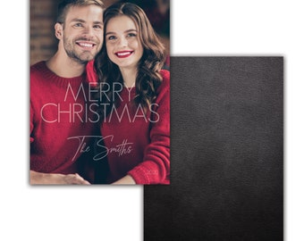 Photo Christmas Card, Holiday Card, Personalized Christmas card, picture, Merry Christmas 1 photo, Digital Download