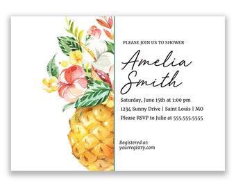 Pineapple | Bridal Shower Invitation | Personalized