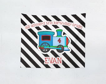 All Aboard The Birthday Train | Tapestry | Background | Personalized Party Decorations