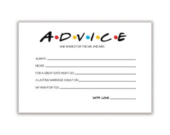 Friends Inspired | Advice and Wishes Card
