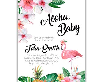 Aloha, Baby | Baby Shower Invitation | Personalized | Envelopes Included with Printed Option