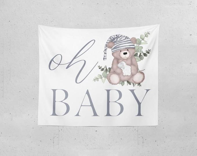 Teddy Bear Baby Shower Backdrop