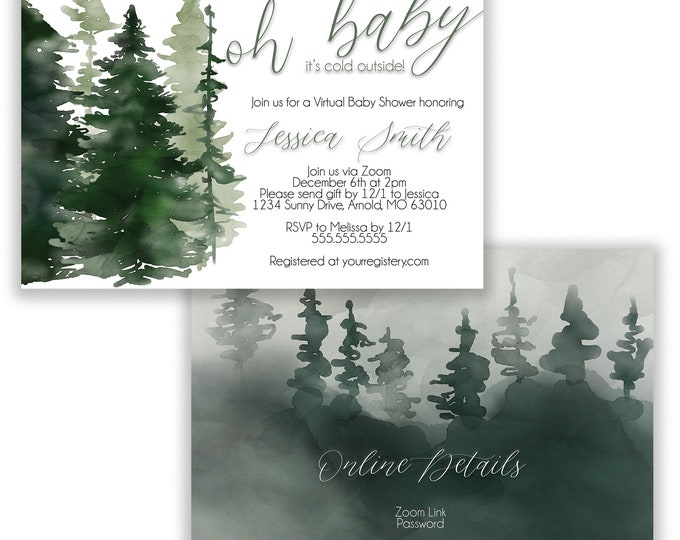 Oh Baby | Baby Shower Invitation | Personalized