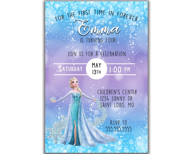 Frozen Inspired | Birthday Party Invitation | Personalized