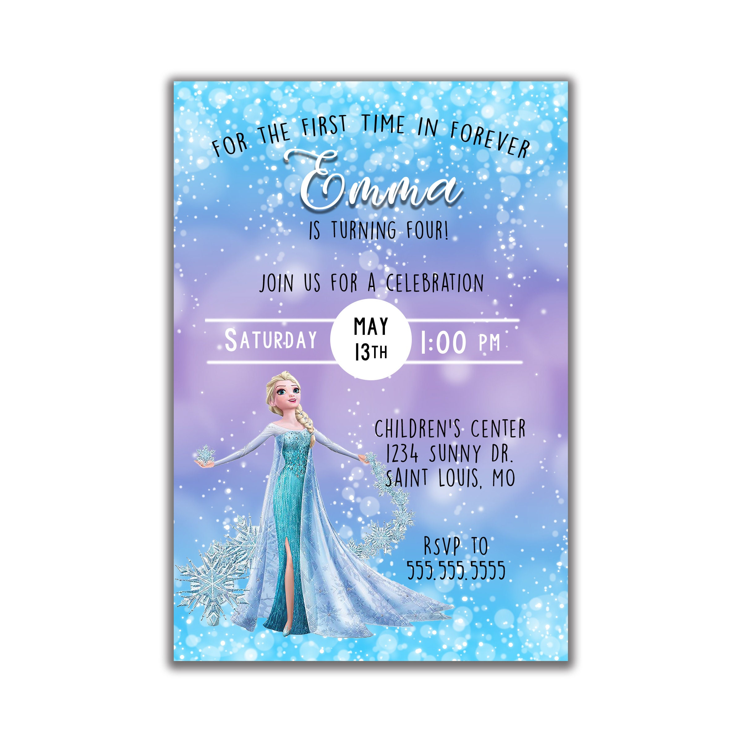 encludes envelopes 25 Frozen Birthday Party Invitations Personalized