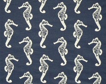 "Premier Prints SEAHORSE Premier Navy Slub or choice of 6 colors-54"" wide-Fabric by the yard cotton decorator fabric FAST SHIPPING"