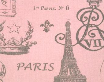 FRENCH STAMP-Designer Fabric-Bella(pink)/storm gray/grey or you choose color Premier Prints-1 yard yardage or more-Ships Fast-