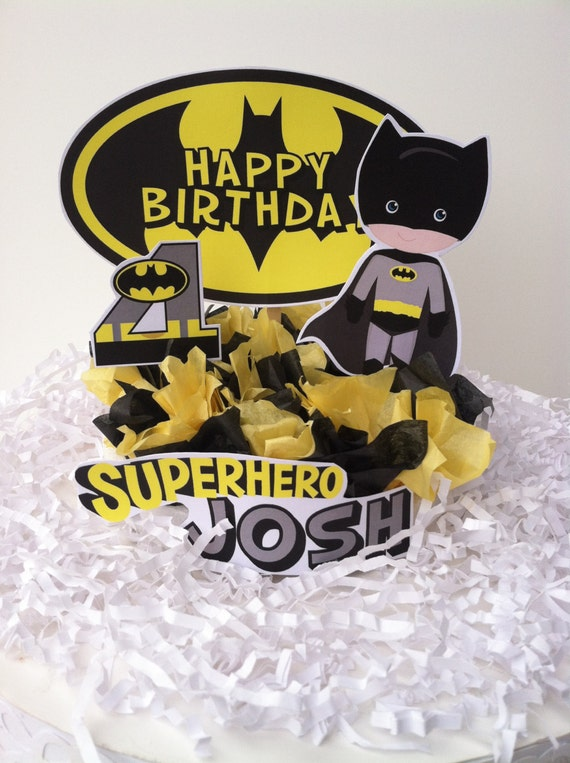 Superhero Batman Cake Topper Etsy