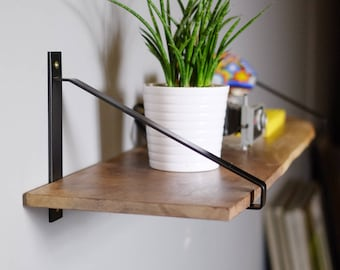 Modern Steel Shelf Brackets Black Powder Coated