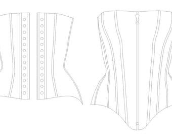 ba59bce9675 Corset Pattern! Grace - a modern 14 panel over-bust corset pattern size  (UK) 8-20