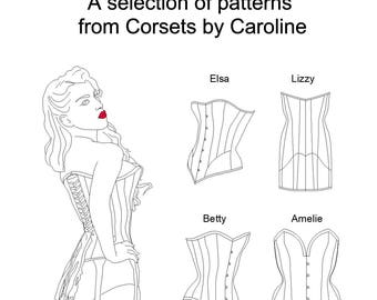 Corset patterns and one-off bespoke corsets by