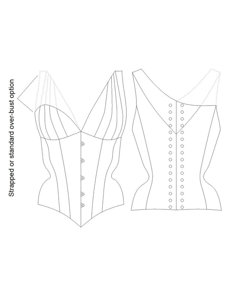 3fb15a40625 PATTERN Constance a strapped cupped over-bust corseted