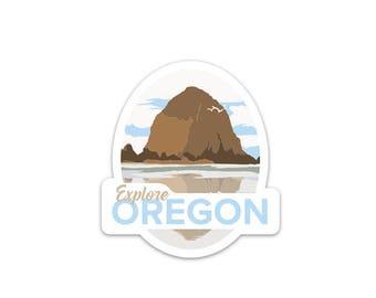 Haystack Rock Sticker