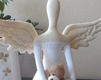 PDF sewing pattern for Tilda doll Angel wings - Accessories for doll- DIY tutorial- ready to print