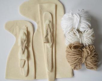 DIY Blank Doll Unicorn UNSTUFFED BODY for crafting with pdf instructions PreSewn  Blank Doll Body - premade doll- cloth doll body-horse doll