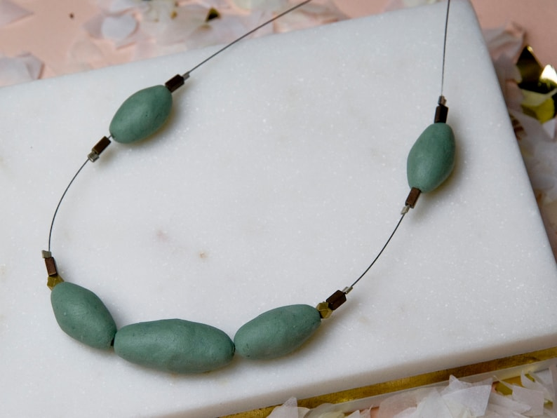 Green Floaties Minimalist Jewelry Hand Made Gifts Under 50