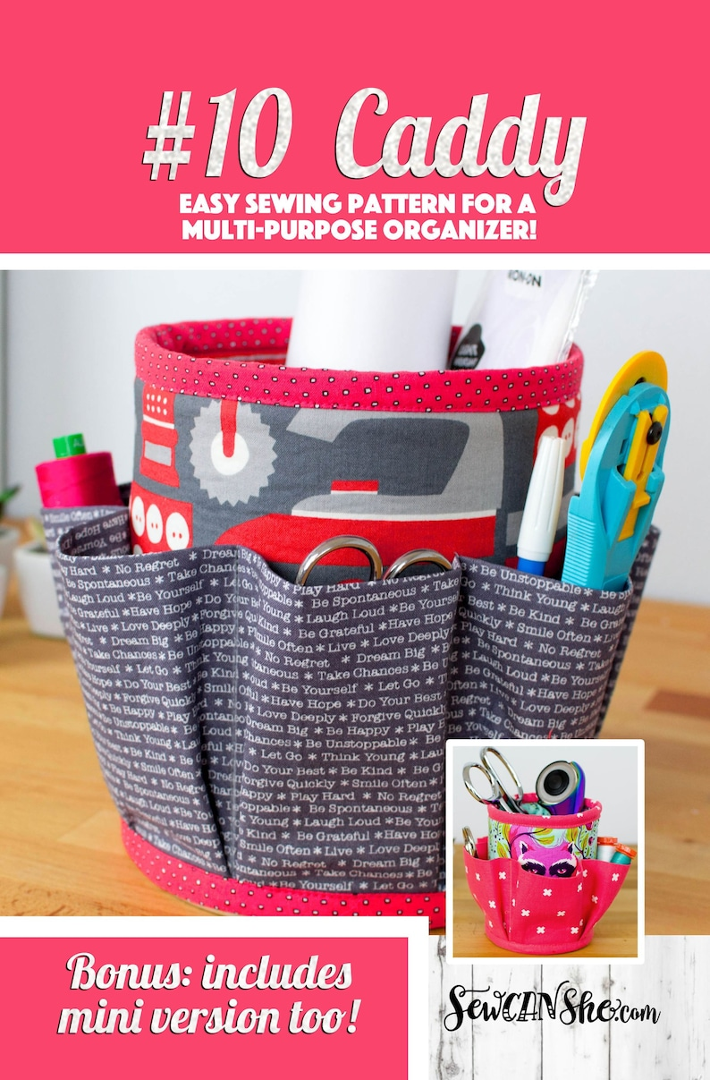 Number 10 Caddy Kitchen or Sewing Room Organizer Sewing image 0
