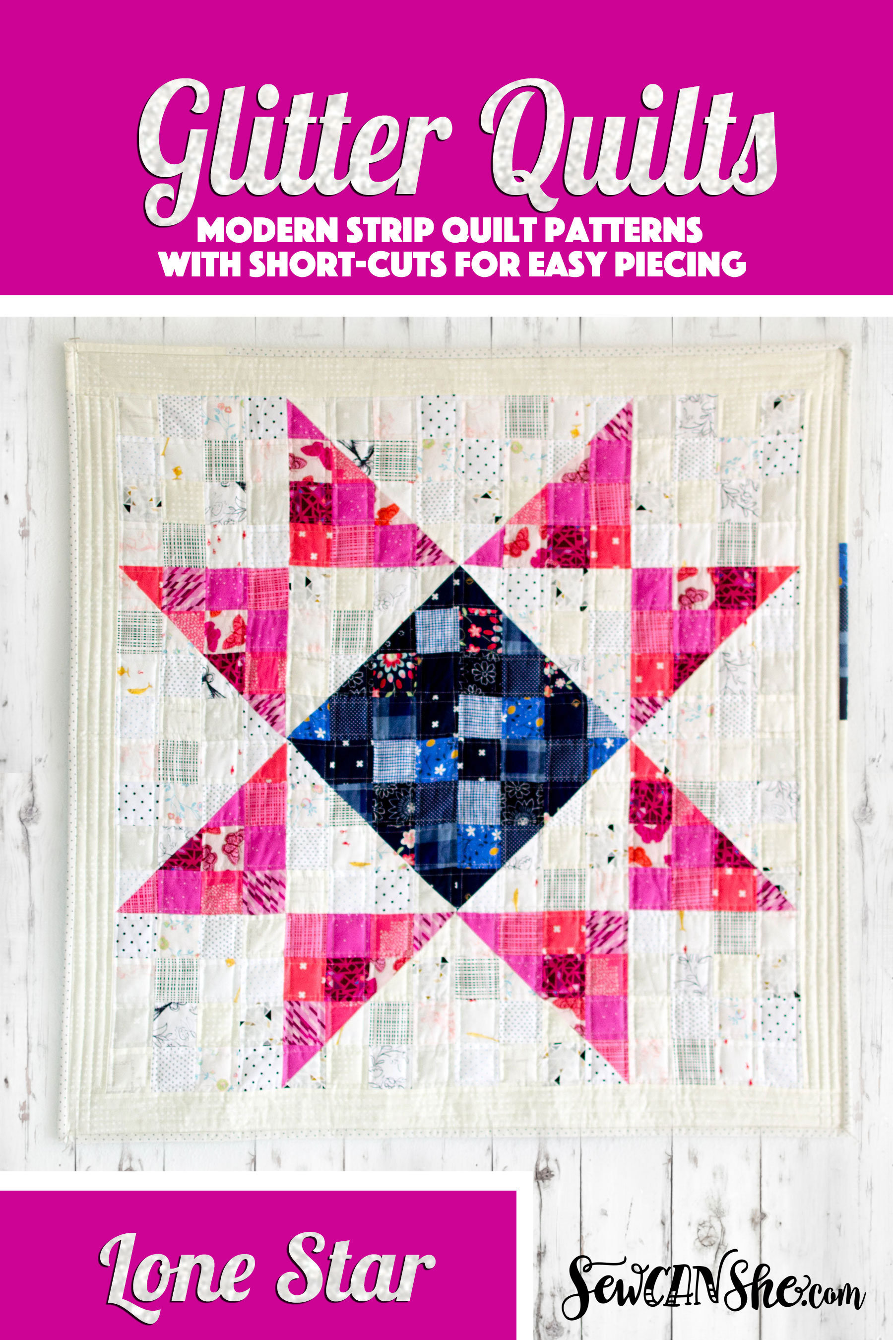 Lone Star Glitter Quilt Pattern modern traditional low | Etsy