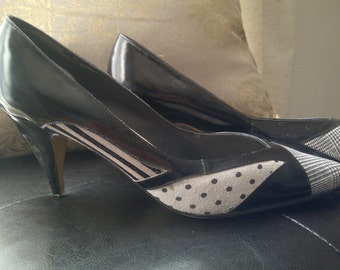 Jasmine Patent Leather and Suede heels circa 1980's
