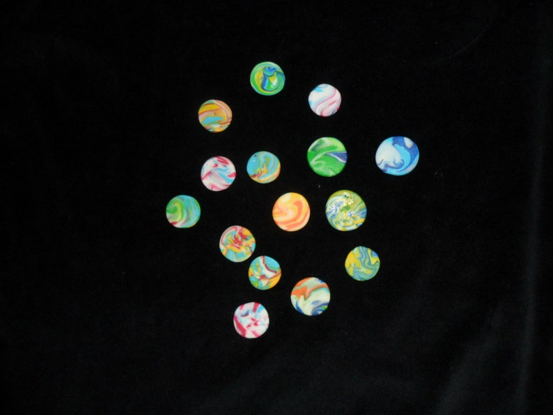 Golf Ball Marker Tie Dye Glow In The Dark Made With Polymer Etsy