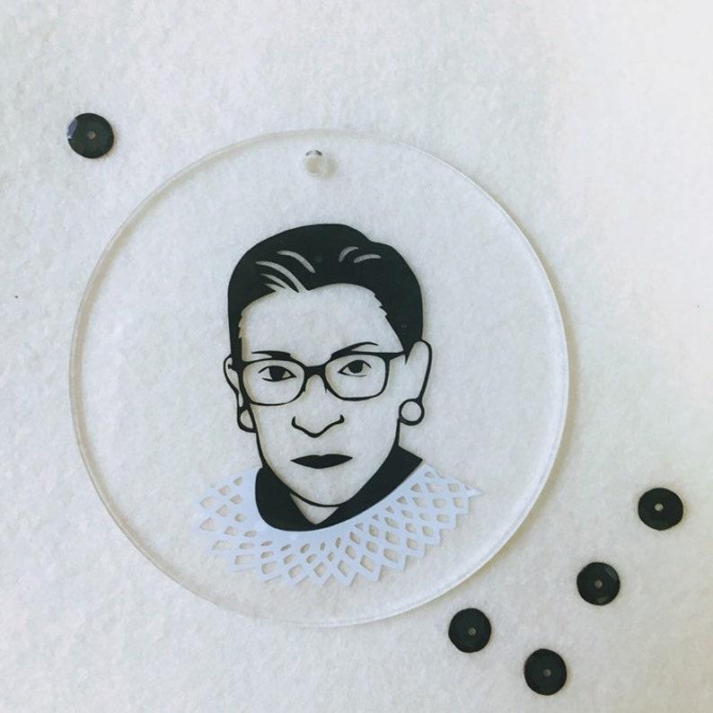 RBG Ornament  Ruth Bader Ginsberg Hanging Ornament image 0