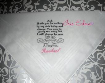 Father of the Bride Handkerchief / Wedding Handkerchief