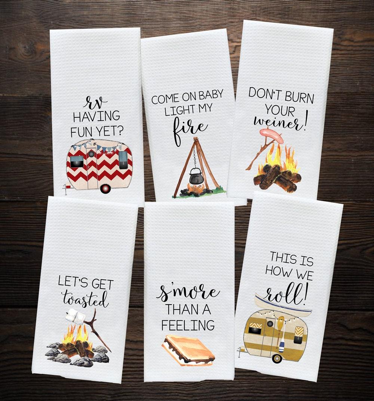 Camper Kitchen Towel Camping Gift Camp Kitchen RV Decor