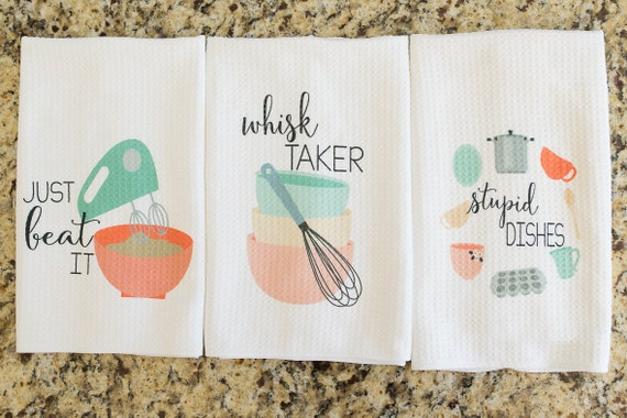 Incroyable Unique Kitchen Decor Funny Dish Towel Gift For Bridal | Etsy