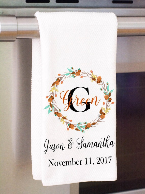 Your Name Housewarming Shower Foodie Gift Personalized Towel  Home Decor Embroidered Kitchen Towel