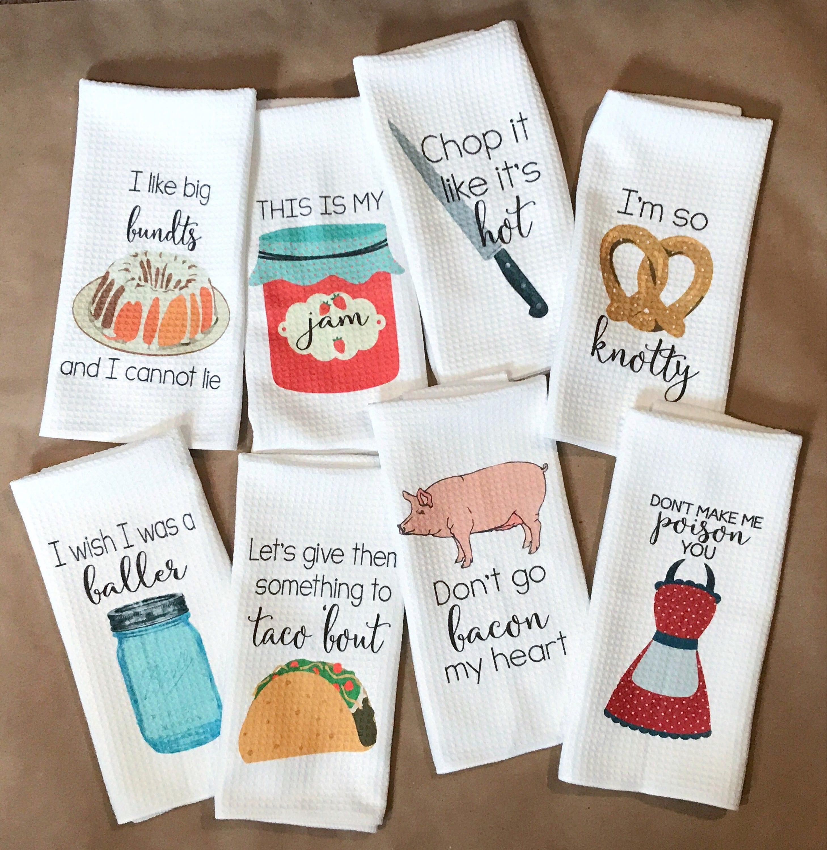 Funny Kitchen Towels Kitchen Decor Hostess Gift Dish | Etsy