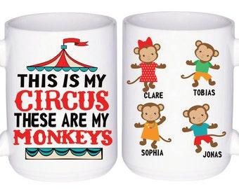 Funny Mom Mug - Not My Circus Mug - Mothers Day Gift - Funny Mugs For Mom - Gift for Grandma - Funny Mom Gifts - Busy Mom Mug - Gift For Her