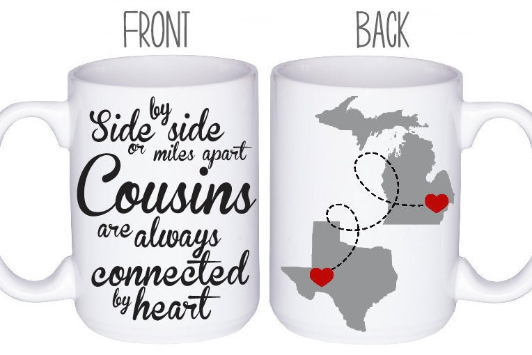 Cousins Mugs Cousin Gift Idea Personalized For