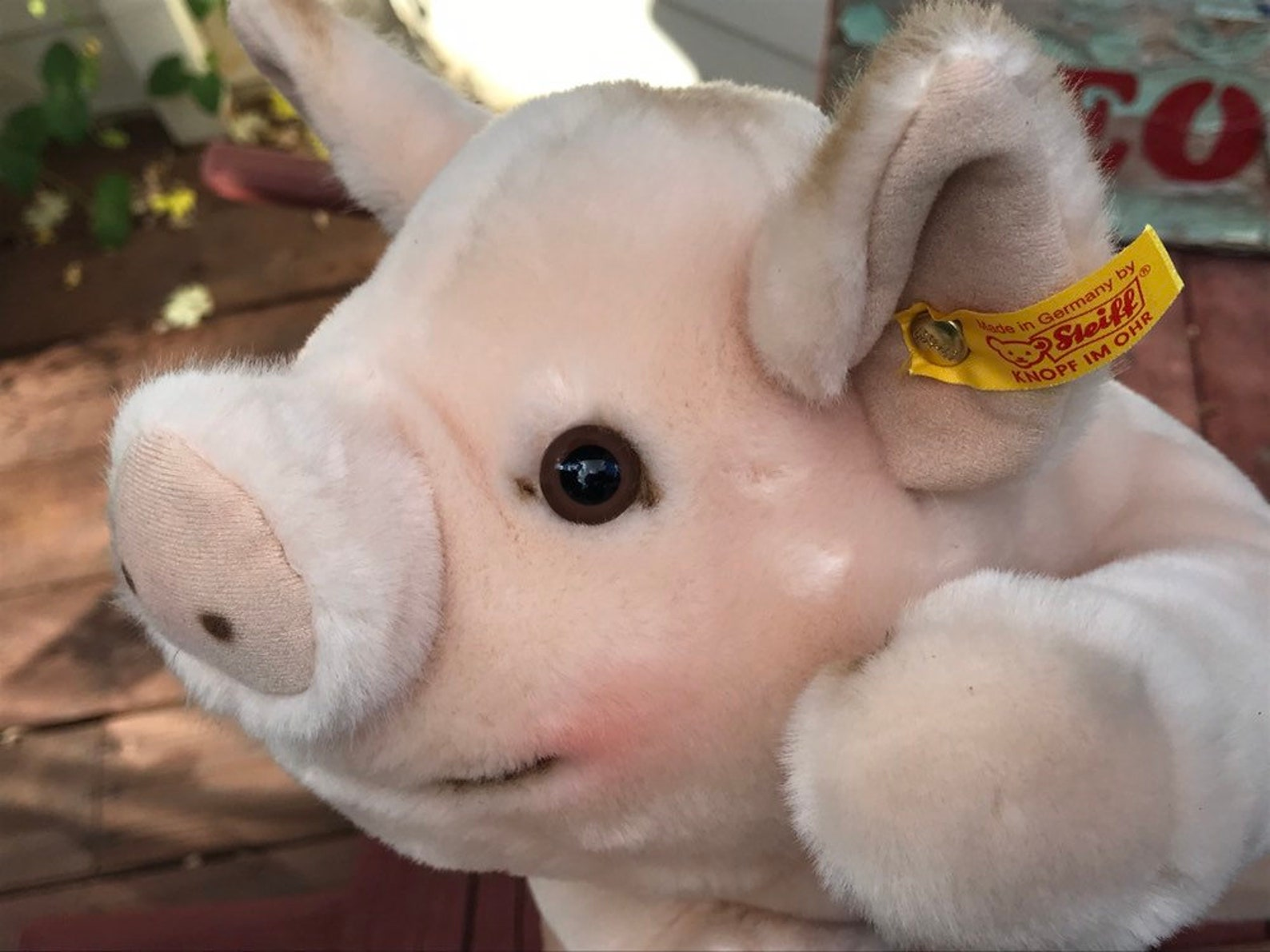 Steiff Original Plush Pig, Steiff Collectors Club Domestic Farm Animal, Made in Germany