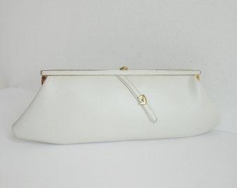 29f4e163d0 Ivory 60s Vintage Vegan Bag Golden Buckle    Boxca    Clutch Wallet    Made  In Denmark