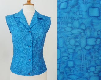 Blue 60s Vintage Blouse