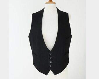 Black Mens Edwardian Vintage Vest
