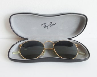 e0f986c5493 80s Ray Ban B L USA Vintage Sunglasses    Round    Made In USA