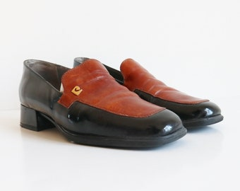 3484012a4fd0 Cognac Brown   Patent Leather Loafers    Pierre Cardin Paris    Creation  Couture    Size 38    Made In France