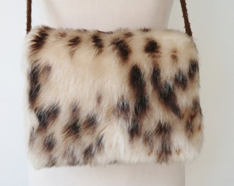 16a09be2b4 Vintage Hand Muff    Leopard Print    One Of A Kind    Faux Fur    Hand Made