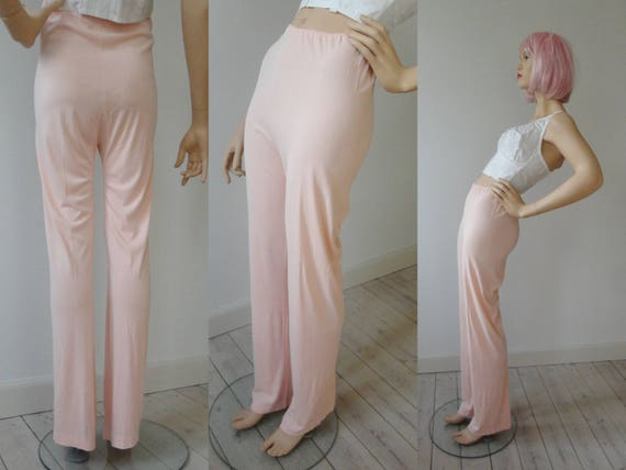 40s Delicate Pink Lingerie Pants // Rayon - image 2