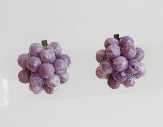 Purple 60s Vintage Ear Clips