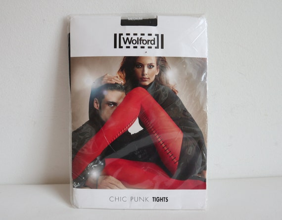 Wolford Tights // Chic Punk Tights // DEADSTOCK Bl