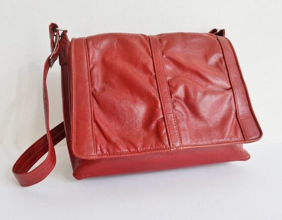 Rusty Brown 60s Vintage Shoulder Bag // Vegan Bag